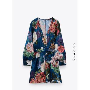 NWT Zara Short Jumpsuit with Floral Print
